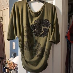 Large Forest Green Blouse